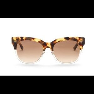 Gucci Square Spotted Havana Acetate Frame Sunnies